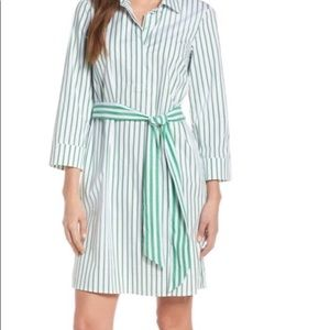 1901 Stripped belted Midi Shirt Dress